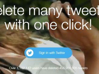 Come eliminare tutti i tweet in un colpo solo