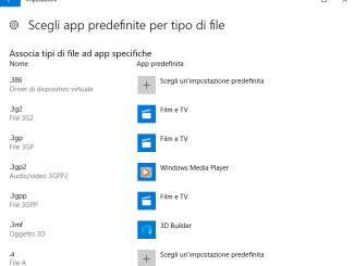 Windows 10 come cambiare le app predefinite