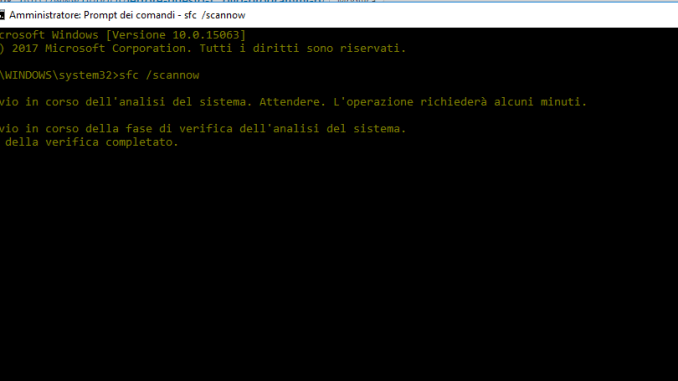 Dll comune della shell di windows ha smesso di funzionare