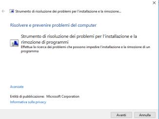 Soluzione errore 1603 durante installazione di skype