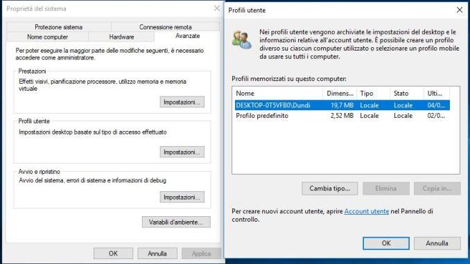 Come eliminare il profilo utente mantenendo i dati