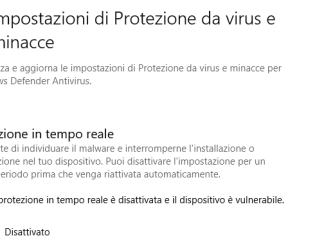 Disattiva windows defender per sempre in windows 10