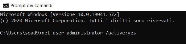 Rinominare la cartella del profilo utente in windows 10