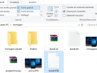 Visualizzare formato file windows 10