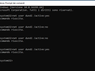 Come abilitare o disabilitare account utente in windows 10