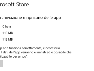 Come reimpostare microsoft store in windows 10