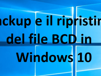 Come eseguire il backup e il ripristino del file bcd in windows 10