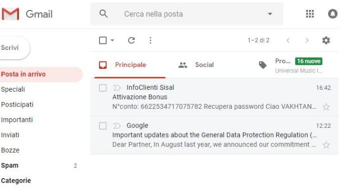 Come attivare la nuova interfaccia di gmail