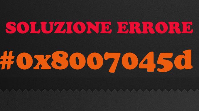 Errore 0x8007045d quando copio i file
