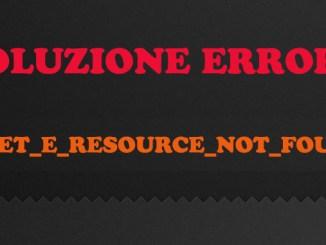 Inet e resource not found in microsoft edge