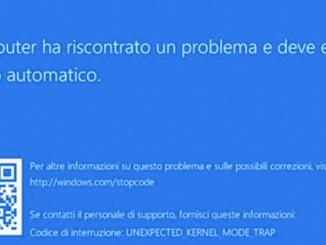 Errore unexpected kernel mode trap in windows 10