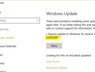 Come risolvere errore 0x8000ffff in windows update microsoft store