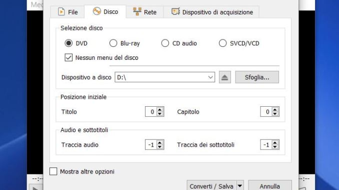 Come copiare dvd video con vlc
