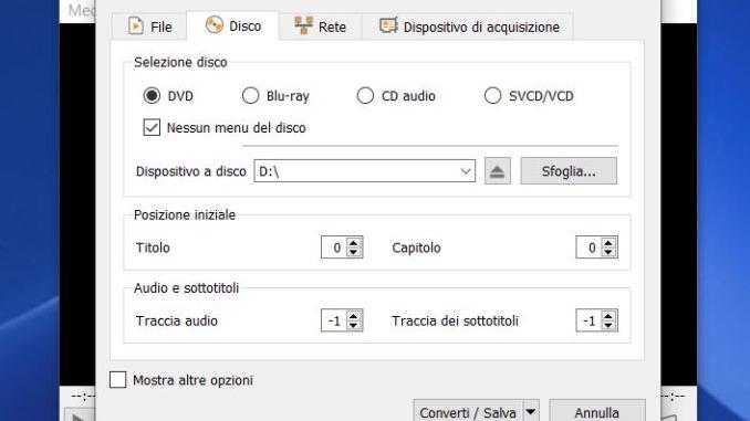 Come copiare dvd video con vlc