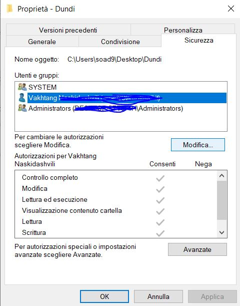 Windows non mi permette di creare le cartelle