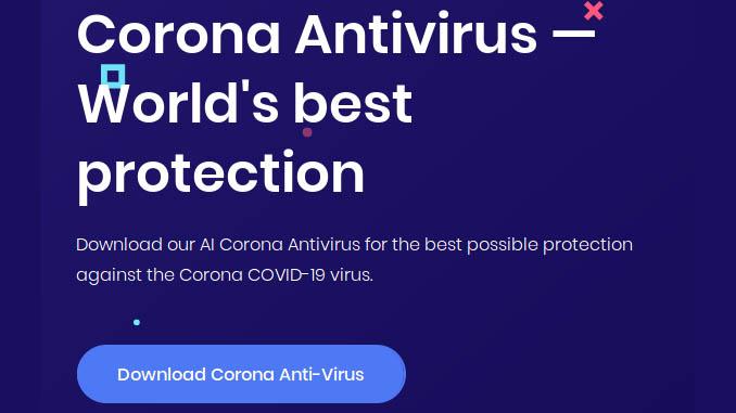 Antivirus covid 19 che ti infetta il computer