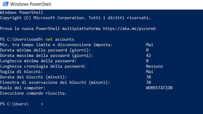 Come impostare una password con scadenza in windows 10