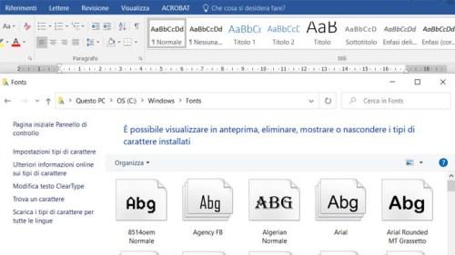 Font installato ma non visibile ecco come risolvere in windows 10