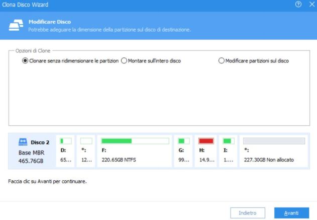 Clonare windows su un nuovo ssd