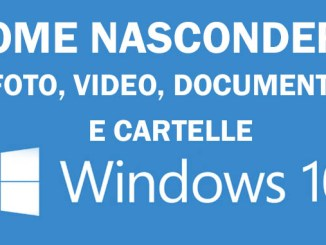 Come si fa a nascondere file e cartelle in windows 10