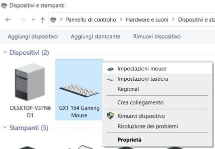 Come aumentare la sensibilita del mouse dal pannello di controllo