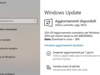 Errore 0x80004005 in windows 10 durante laggiornamento