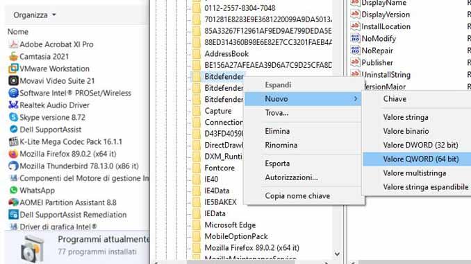 Come nascondere i programmi installati su windows 10
