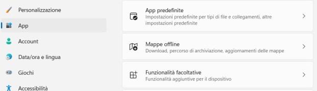 Cambiare software predefinito in windows 11