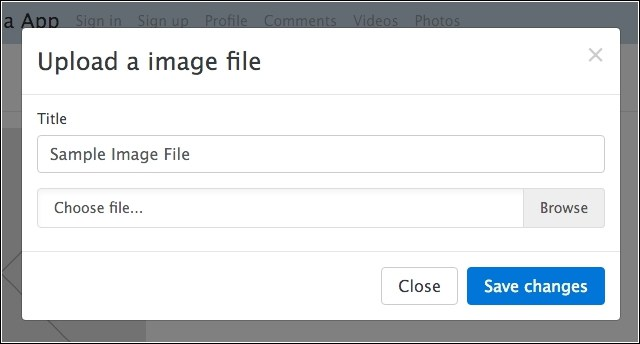 Inserting images in the application using the upload form