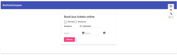 Create a bus fare comparison app with Angular 4 and Node js