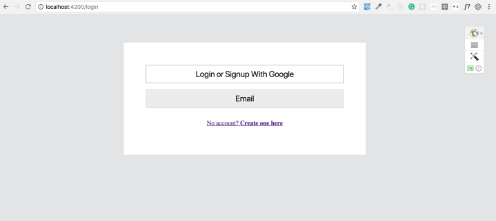 Angular Firebase Authentication Email Login Form