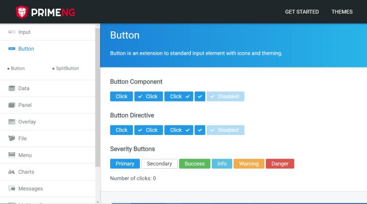 Angular Ui Components PrimeNG