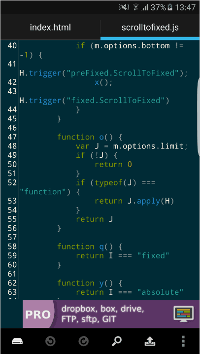 android code editor