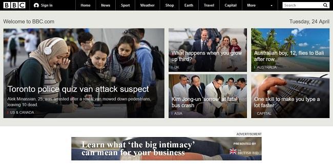 React example BBC