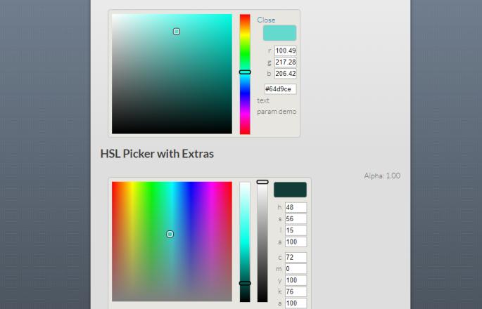 js color picker