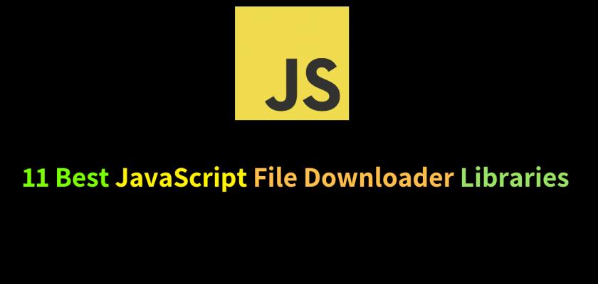 JavaScript File Downloader
