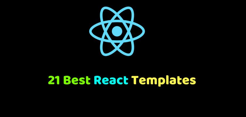 21 Best React Templates