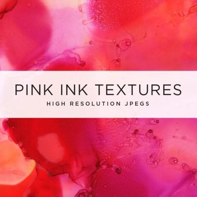 Pink Ink Textures Illustration