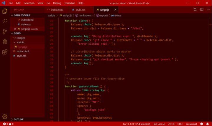 Sandstorm VS code
