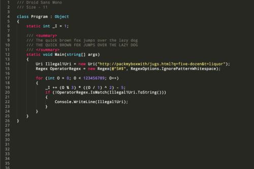 Coding fonts