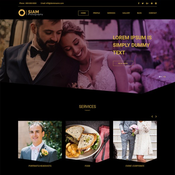 Siam Photography - Photography Studio PSD Template