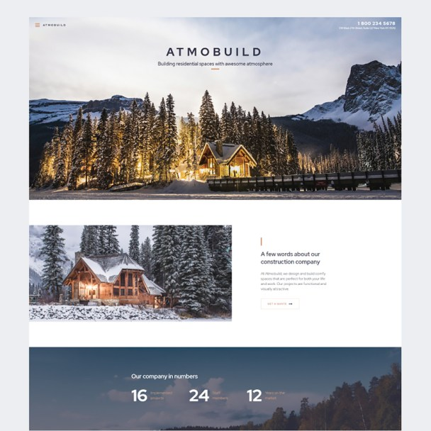 Construction Business Website Design - TemplateMonster