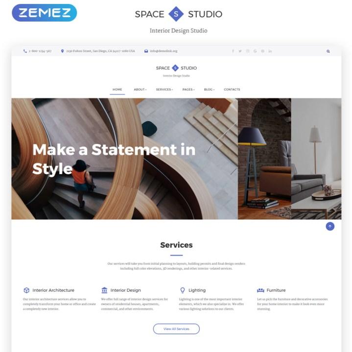 Interior Design Multipage HTML Template