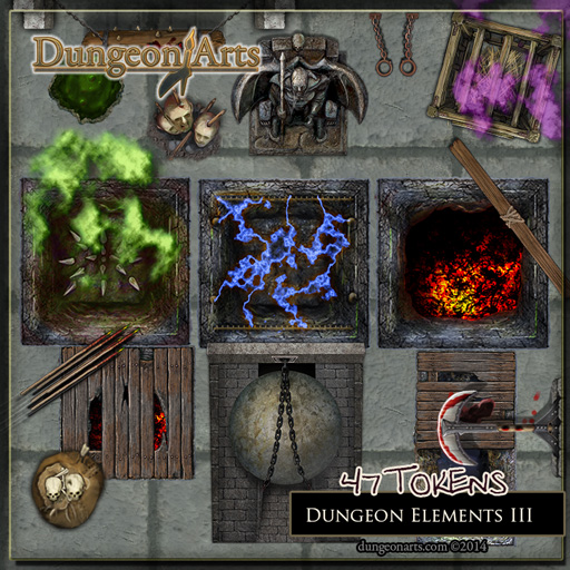 Contact Sheet of Pits and Traps Fantasy Map Objects