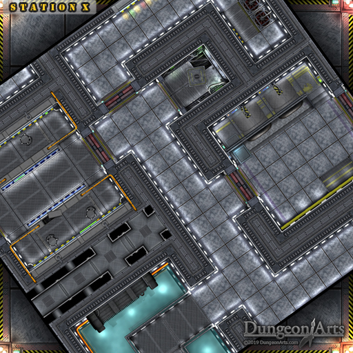 Station X Mini Map Sci-Fi Tileset