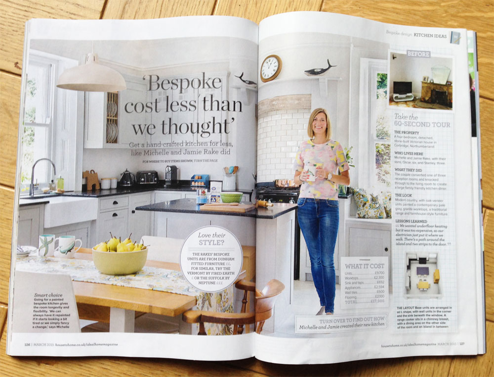 kitchen magazine value city furniture sets featured in ideal home dunham fitted