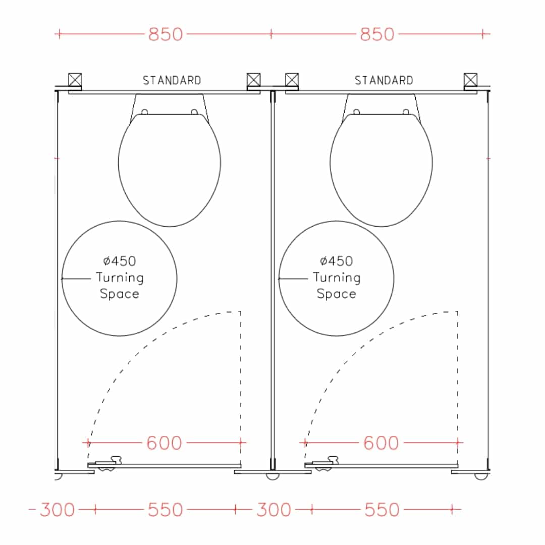 hight resolution of standard toilet cubicles