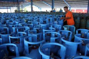 LPG subsidi ukuran tabung 12 Kg.
