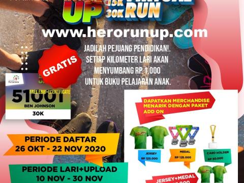 Universitas Pertamina Gelar Hero Run UP Virtual Run
