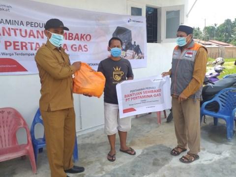 Pertagas Salurkan Bantuan Banjir di Aceh